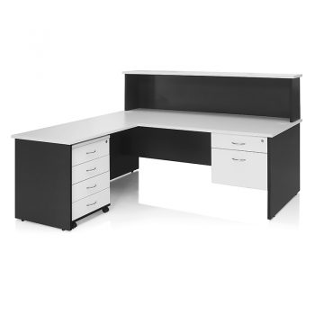 Edge Office Desk with Cowl, Return and Drawer