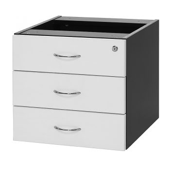 Edge Fixed Drawer Unit - 3 Personal Drawers