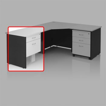 Edge Fixed Drawer Unit with 1 Personal + 1 Deep File Drawer