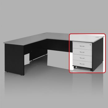 Edge Mobile Drawer Unit with 4 Personal Drawers