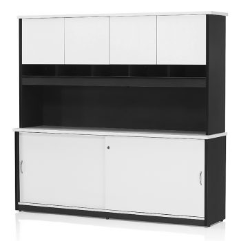 Edge Credenza Hutch Doors Package