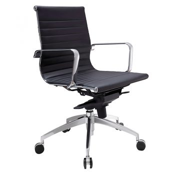 Kew Medium Back Chair - Black