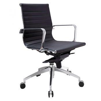 Kew Medium Back Chair - Black