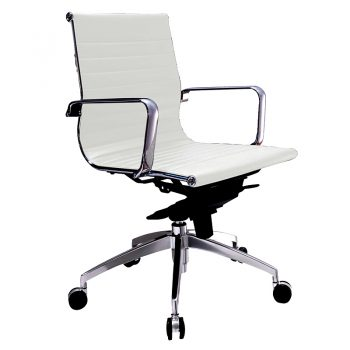 Kew Medium Back Chair - White