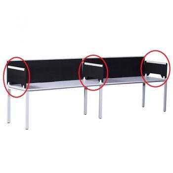 Modular Desk Divider in Position