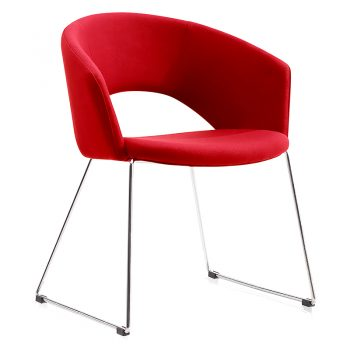 Preston Visitor Chair - Red Fabric