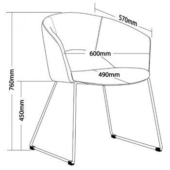 Preston Chair, Sizes