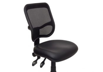 Surrey Mesh Back Drafting Chair, Black Vinyl Seat