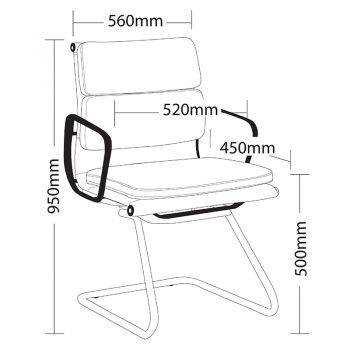 Toorak Low Back Visitor Chair, Sizes
