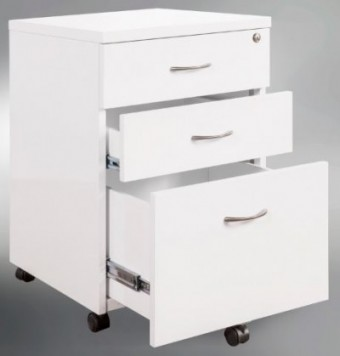 White Gloss Mobile Drawer Unit