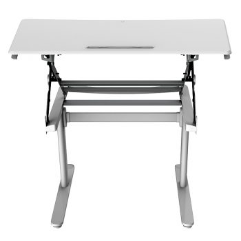 Riser Height Adjustable Desk, Front View