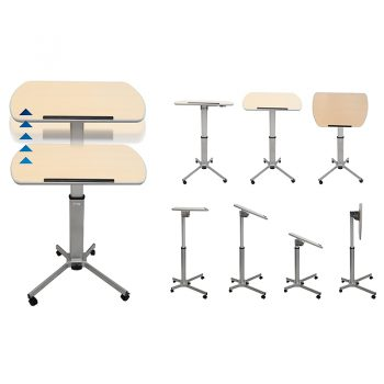 Height Adjustable Mobile Lectern