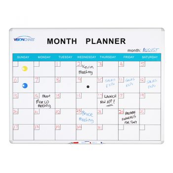 Magnetic White Board Perpetual Monthly Planner