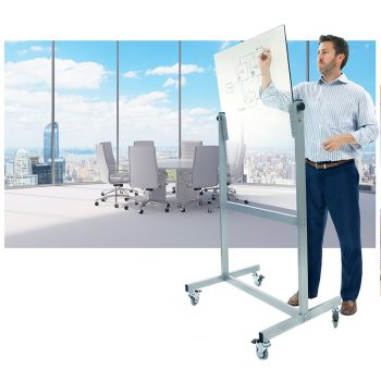 Mobile Pivoting Glass Board