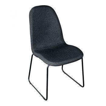 Adele Chair, Black Fabric