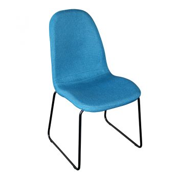 Adele Chair, Blue Fabric
