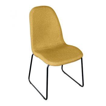 Adele Chair, Yellow Fabric
