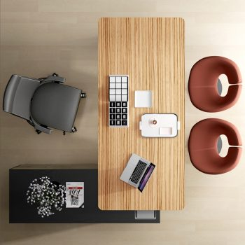 Carine Desk and Return, Top View