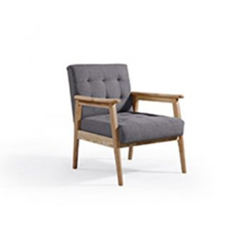 Daniela Arm Chair, Charcoal Fabric