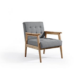 Daniela Arm Chair, Stone Fabric