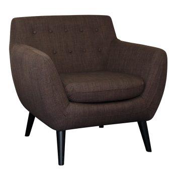 Gianna Chair, Chocolate Fabric