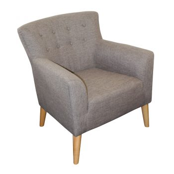 Gina Chair, Mink Fabric