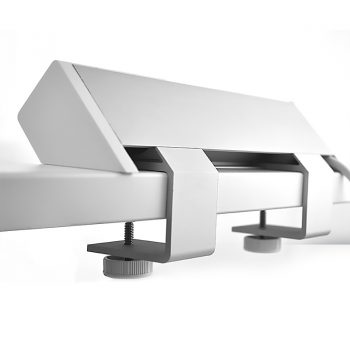 System Infinite Desk Top Power Rail, Desk Top Mounting Clamps