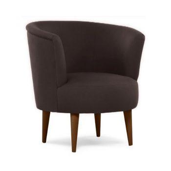 Marcella Tub Chair, Chocolate Fabric