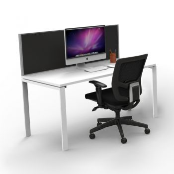 Modular Single Desk - 1 Person, with Screen Divider