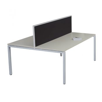 Modular 2-Way Desk Pod with Screen Divider