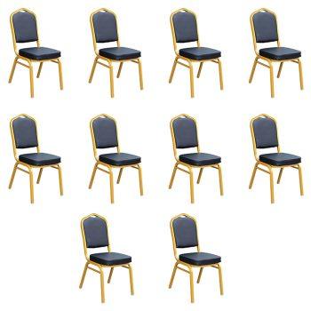 Zia Banquet Chair- Black