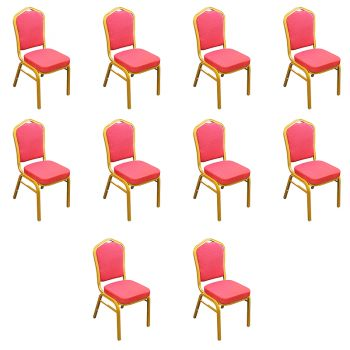 Zia Banquet Chair - Red