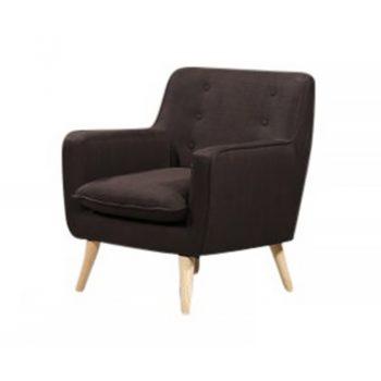 Chriss Chair, Gunmetal Fabric Colour