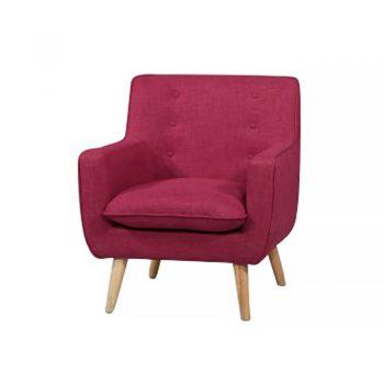 Chriss Chair, Magenta Fabric Colour