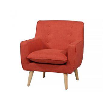 Chriss Chair, Peach Fabric Colour