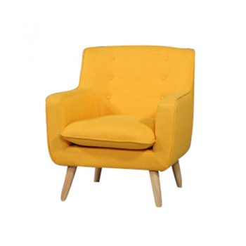 Chriss Chair, Yellow Fabric Colour