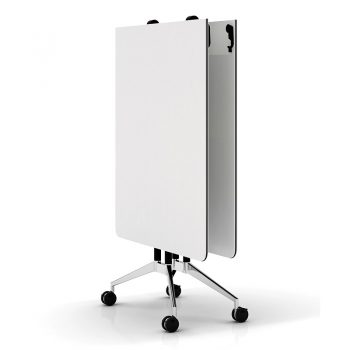 Harper Vertical Folding Table, White