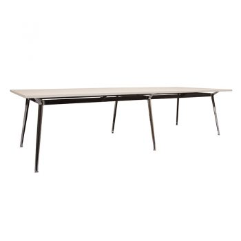 Ruby Meeting Table, White Table Top, 3200mm x 1200mm