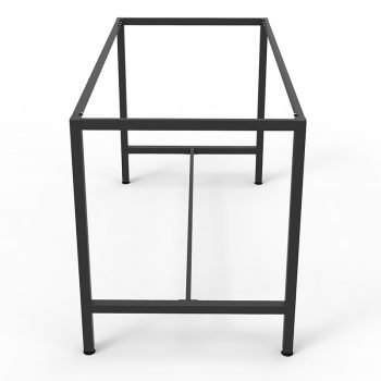 Barron Steel High Bar Table Frame - No Top, End View