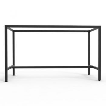 Barron Steel High Bar Table Frame - No Top, Side View