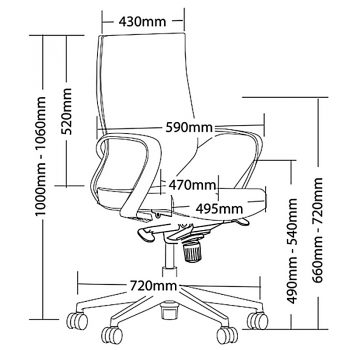 Belle Chair Dimensions