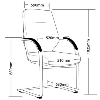 CBD Visitor Chair Dimensions