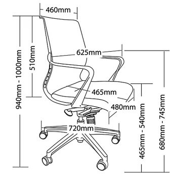 Downtown Chair Dimensions