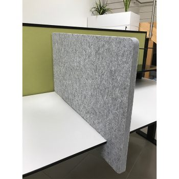 Practical Slide-On Grey Desk Divider