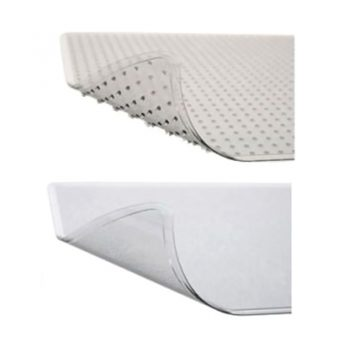 Dimpled and Smooth Chair Mat Options