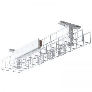 System Single Tier Back to Back Desk Cable Basket