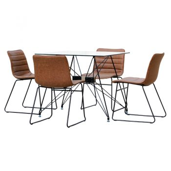 Square Meeting Table and Chairs