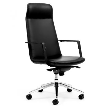 Black High Back Boardroom Chair