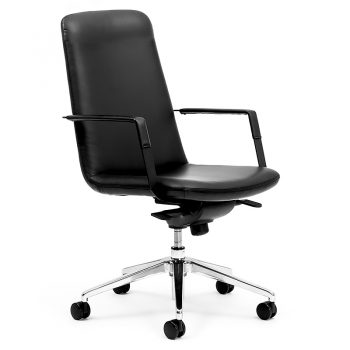 Black Medium Back Boardroom Chair