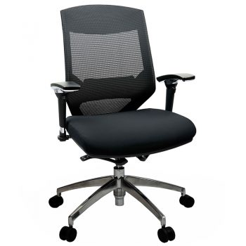 Breathe Chair, Black with Poished Alloy Base
